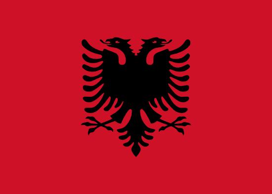 vlag van Albanië